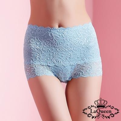 塑褲  蕾絲中高腰蠶絲膠原蛋白塑褲-淺藍 La Queen