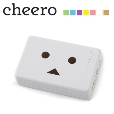 日本cheero花阿愣10050mAh雙輸出行動電源(2A快充)-雛菊/白