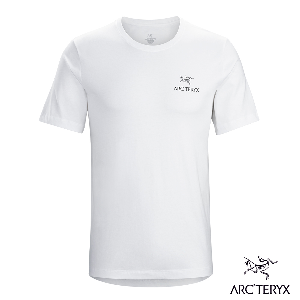 Arcteryx 始祖鳥 24系列 男 有機棉 Emblem 短袖T恤 白