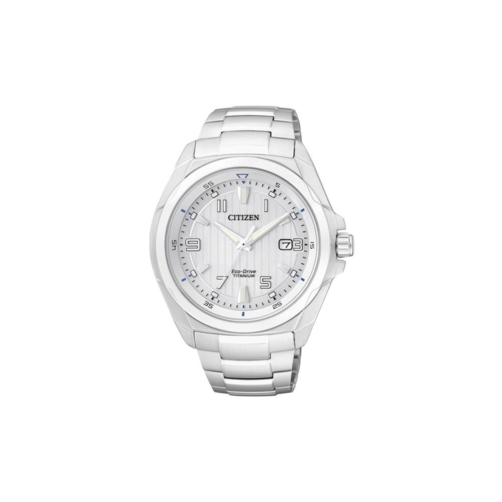 CITIZEN ECO-Drive 超級鈦金屬腕錶(BM6880-53B)-銀/42mm