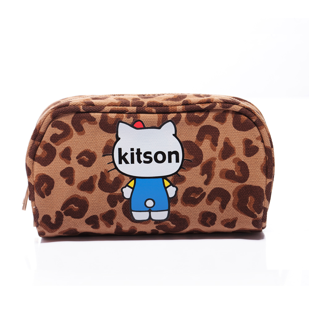 kitson x Ribbon Hello Kitty Pouch (豹紋)
