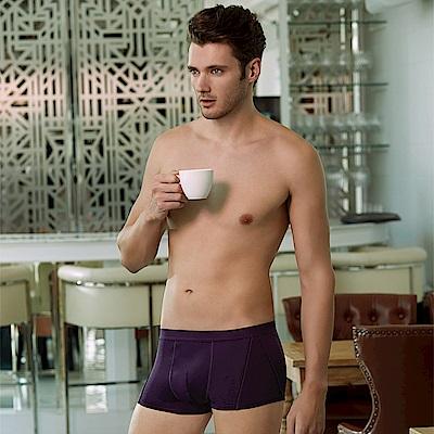 DAYNEER  時尚貼身系列-素面貼身四角褲(黑莓紫)