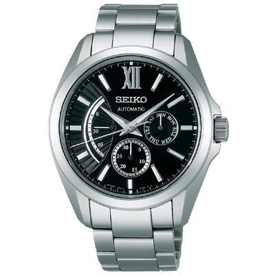 SEIKO BRIGHTZ Comfotex 旗鑑經典機械腕錶-黑/銀/40mm