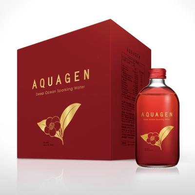 AQUAGEN海洋深層氣泡水斯里蘭卡山茶風味(330mlx24瓶/箱)