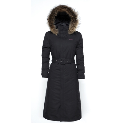 hilltop山頂鳥-女款GoreTex兩件式防水長大衣F21F51-黑