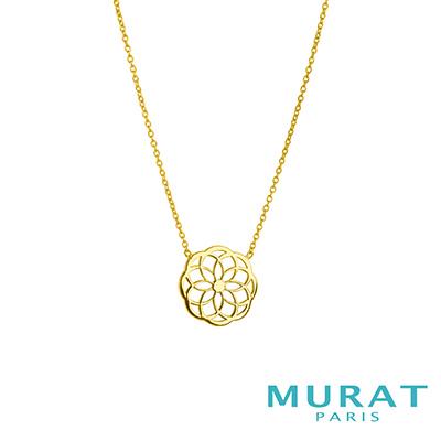 MURAT Paris米哈巴黎 9K金系列 典雅鏤空花形項鍊