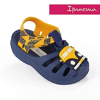 IPANEMA 寶寶 快樂童語休閒涼鞋-海軍藍/黃色