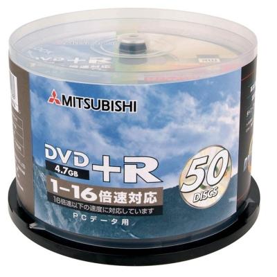 三菱 16 倍速 DVD+R 4.7GB(50片)