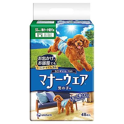 日本Unicharm消臭大師禮貌帶男用(SS)(48片/包)