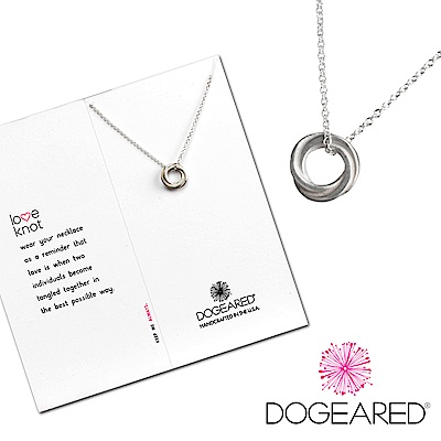Dogeared 許願純銀項鍊 永結同心圓 Love Knot Necklace 附原廠盒