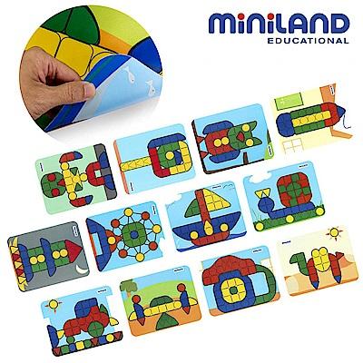 【西班牙Miniland】3.9CM大拼豆幼兒補充卡-12種圖