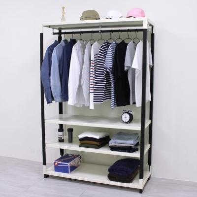 頂堅 [超耐重型]寬120公分(可調式層板)四層鐵板吊衣架/吊衣櫥(十年保固)