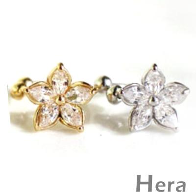 Hera赫拉 大鋯石無耳洞耳環/耳扣/耳骨夾-4款(單顆)