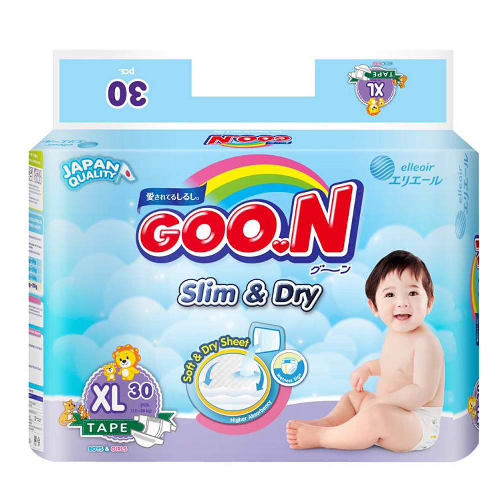 GOO.N 日本大王紙尿褲-國際版小包裝XL(30片/串)