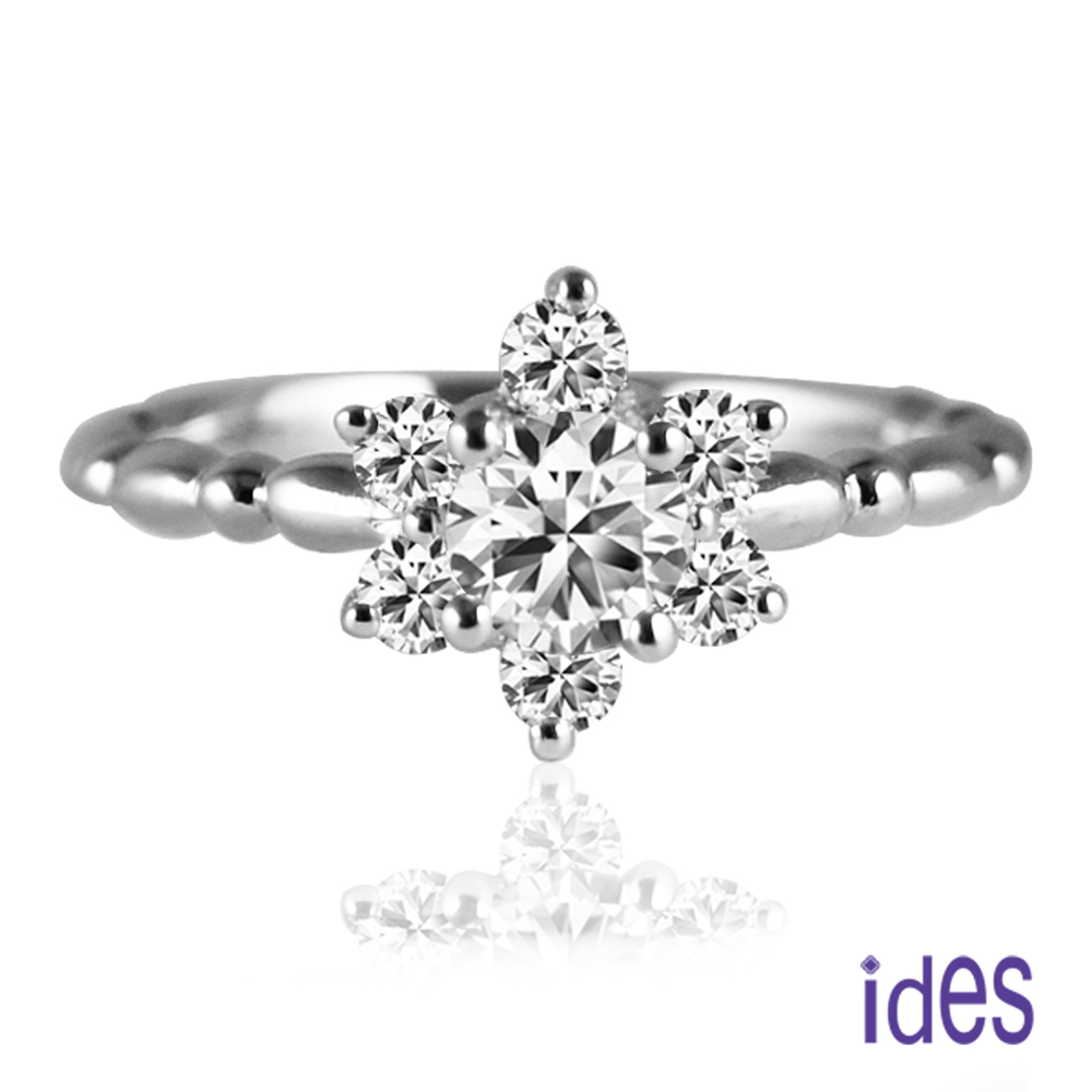 ides愛蒂思 設計款35分E/VS1八心八箭完美車工鑽石戒指求婚戒/耀眼星辰