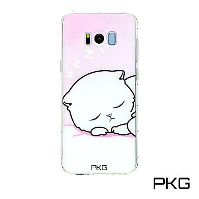 PKG SAMSUNG S8-Plus彩繪空壓氣囊保護殼-浮雕彩繪-呼呼貓
