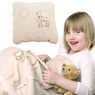 ClevaMama 小熊二用枕頭/毯