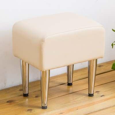 時尚屋 芝妮雅長方型米色鐵腳椅凳免組裝/免運費/台灣製