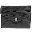 LV M62173 EPI Victorine水波紋零錢短夾(黑)