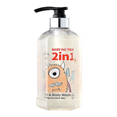 Hallmark合瑪克 2in1洗髮沐浴溫和呵護泡泡露 600ml