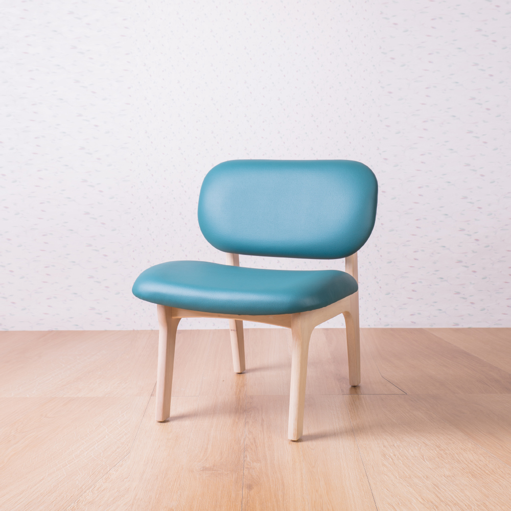 簡約風 菲特孔雀藍休閒椅-62x60x74cm