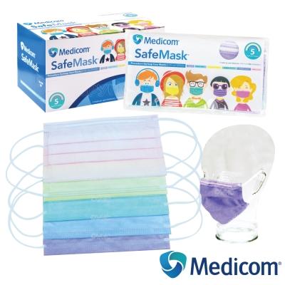 加拿大Medicom 馬卡龍繽紛多色不織布醫療口罩(5入x10包/盒)