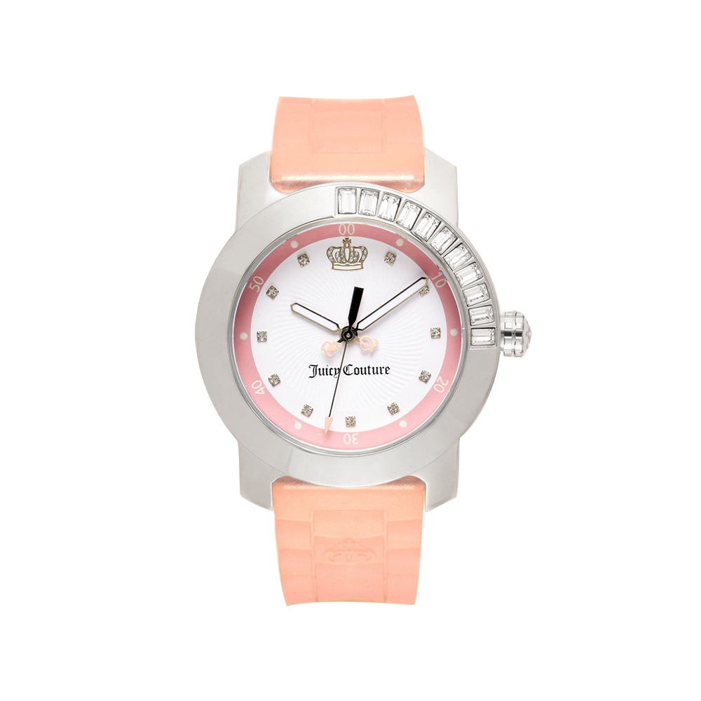 Juicy Couture BFF 晶鑽色彩美人腕錶-粉/38mm product image 1
