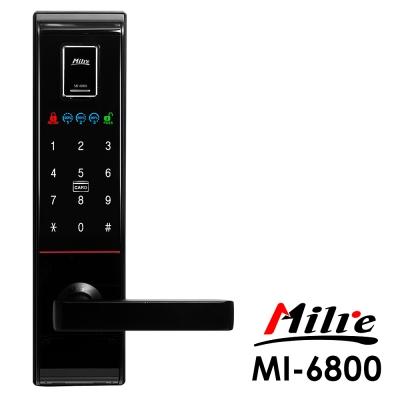 Milre美樂 密碼/指紋/卡片/鑰匙智能電子門鎖MI-6800-黑色(附基本安裝)