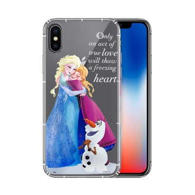 冰雪奇緣展場限定版 iPhone X 空壓殼(艾莎安娜雪寶)