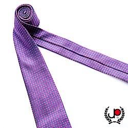 極品西服 100%絲質義大利手工領帶_紫底方格紋(YT5080)