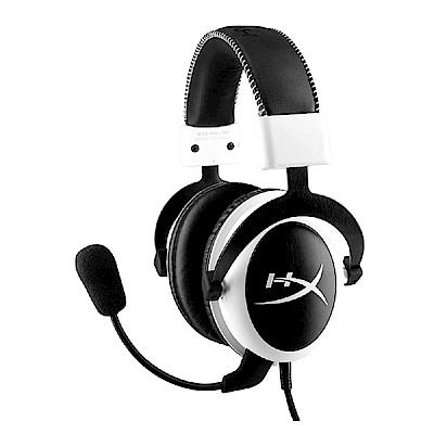 金士頓 HyperX CLOUD 電競耳機-黑白