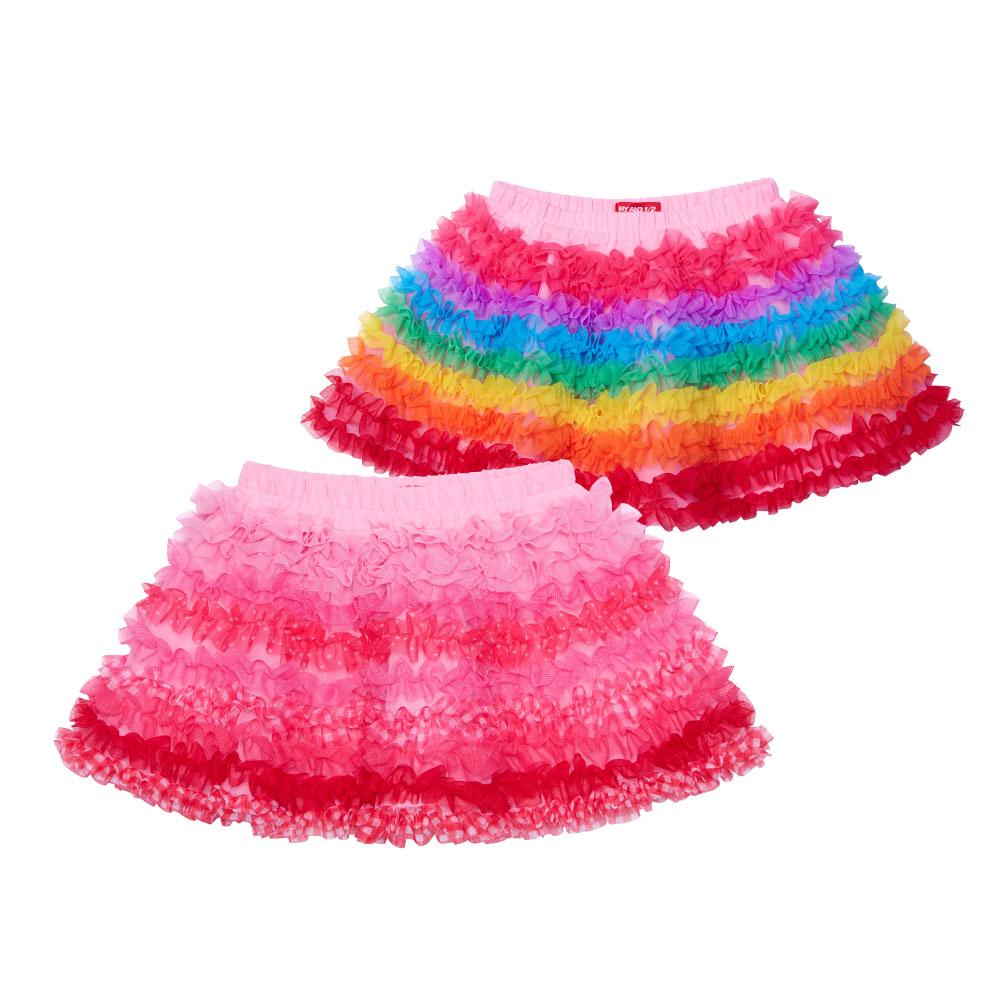 WHY AND 1/2 mini 荷葉網紗短裙 1Y~4Y 多色可選