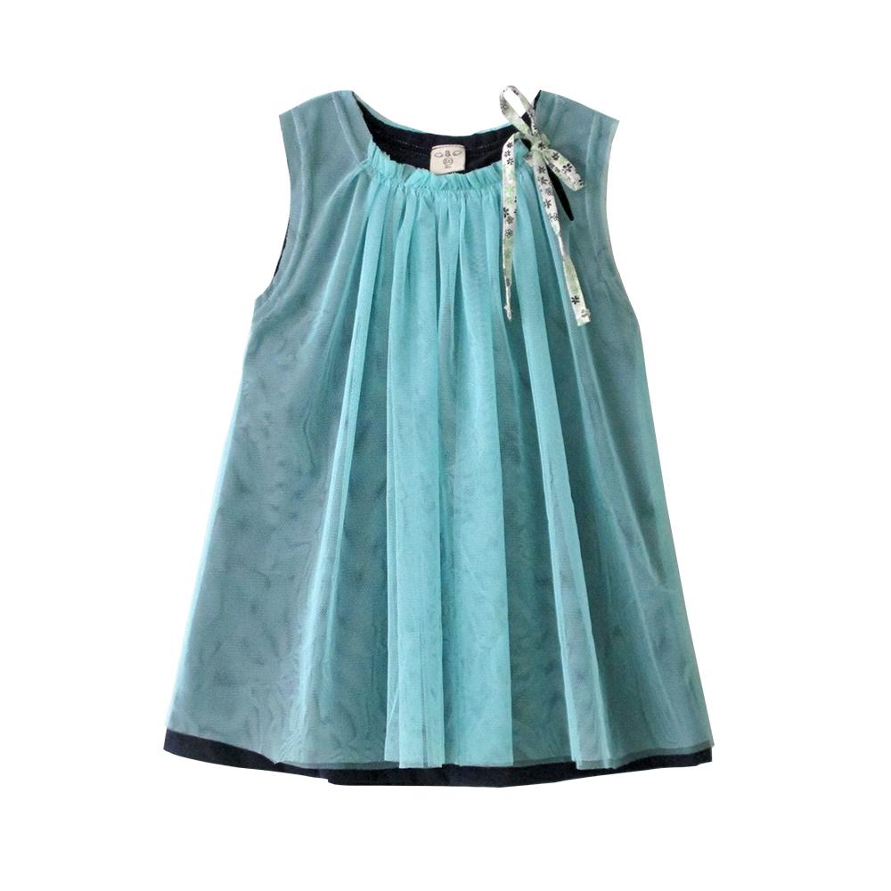 baby童衣 洋裝 女童A字無袖紗裙 42155