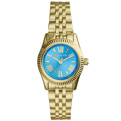 Michael Kors 幸福低喃時尚都會腕錶-藍/26mm