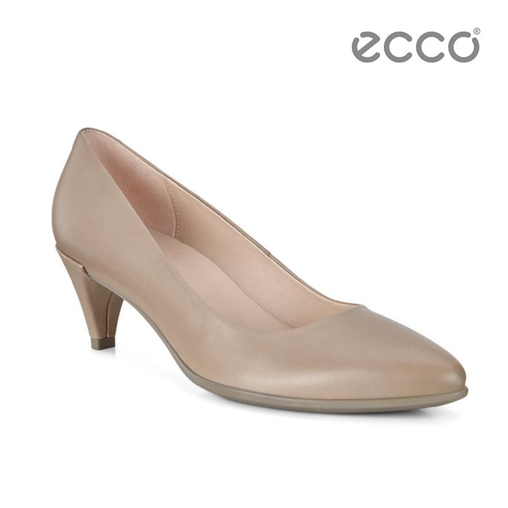 ECCO SHAPE 45 POINTY SLEEK 經典細跟尖頭跟鞋-裸