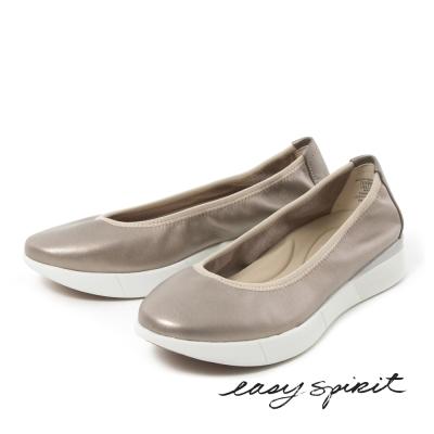 Easy Spirit --微尖頭厚底休閒鞋-古銅金