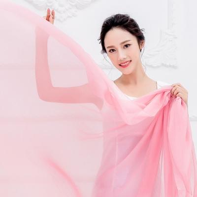 Seoul Show超大版素面單色雪紡絲巾圍巾披肩12色 淺粉
