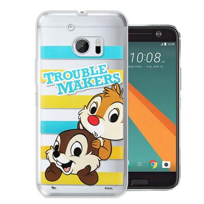 迪士尼授權正版 HTC 10 / M10 大頭招呼系列軟式手機殼(奇奇&...