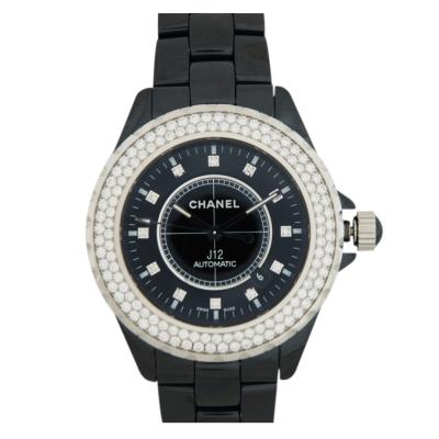 CHANEL J12 (H2014)陶瓷藍寶石鑽錶-黑/42mm