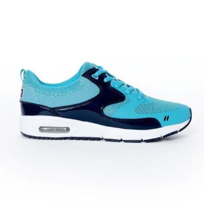 TOP GIRL-運動風異材拼接AIR慢跑運動鞋-淺藍