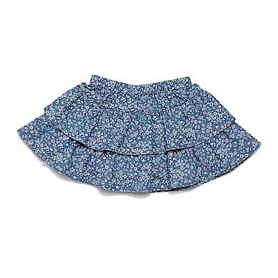 PIPPY 牛仔碎花蛋糕短裙 藍