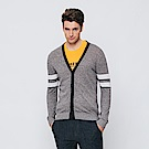 Hang Ten - 男裝 - 撞色線條針織外套-灰色