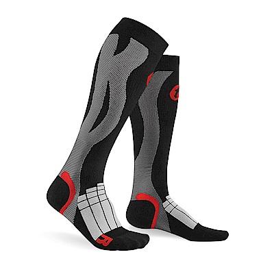 【Titan】太肯壓力運動襪 Elite_黑/灰(適合慢跑、自行車、球類運動)