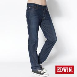 EDWIN COOL RELAX中直筒牛仔褲-男款(中古藍)