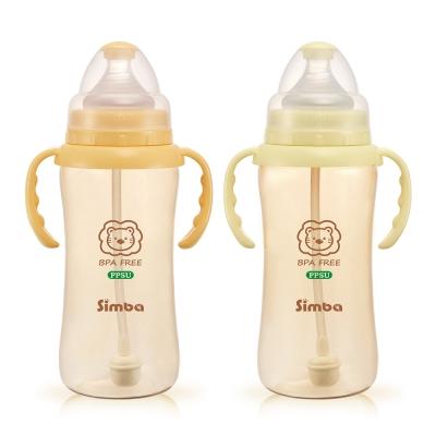 小獅王辛巴 PPSU自動把手寬口葫蘆大奶瓶2支組(360ml)