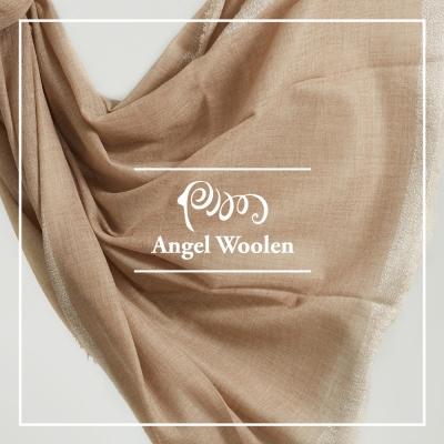 ANGEL WOOLEN  頂級純色/原色羊絨披肩 圍巾-金蔥