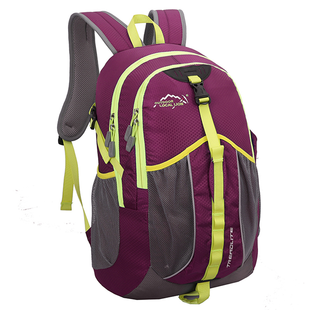 Local Lion 經典電腦背包14.1吋/登山包35L 455PE紫色