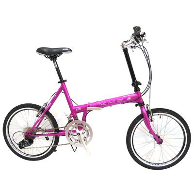 KHS功學社 F20-JJ 20吋16速50-34T鉻鉬鋼折疊單車 桃紫