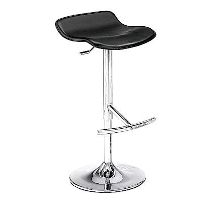 品家居 藍爾達皮革升降吧台椅(二色可選)-41x43x58cm免組