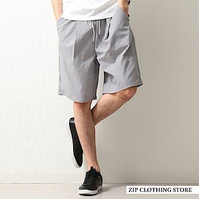 短褲基本素色運動風多機能素材(3色) ZIP日本男裝